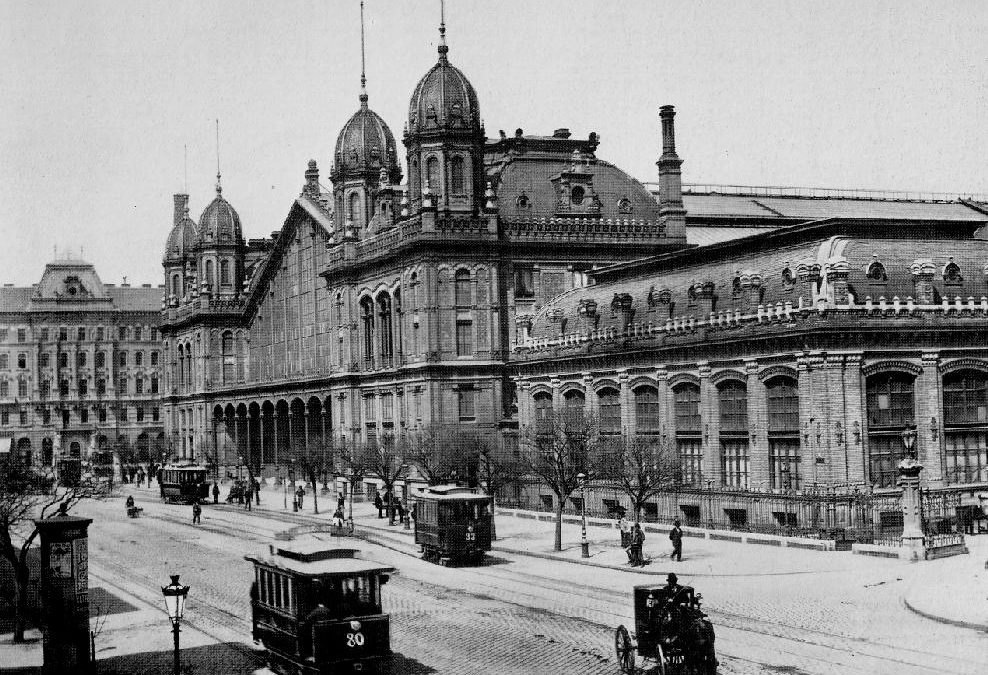 The railway station built by Gustave Eiffel's company!
